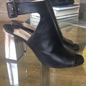 Prada heels - silver/black